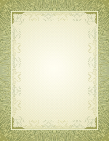 animal border: certificate background with calligraphic lines, vector