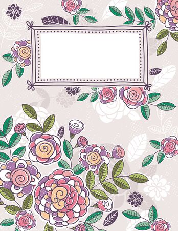 clipart wrinkles: background of hand draw  flowers