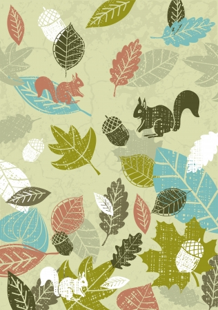 background of hand draw leafs, vector illustration Vector