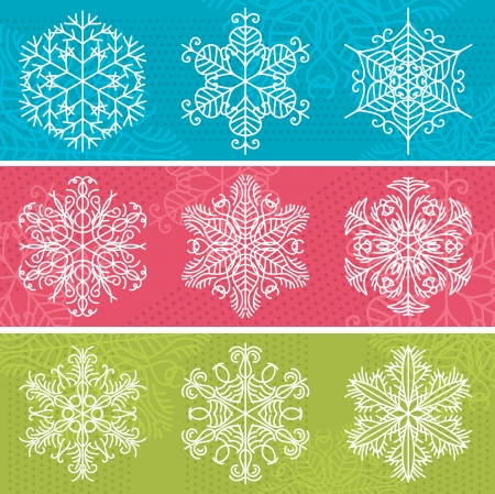 new year border: christmas background with snowflakes Illustration