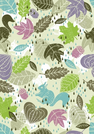 background of hand draw  leafs suitable wrapping paper Vector