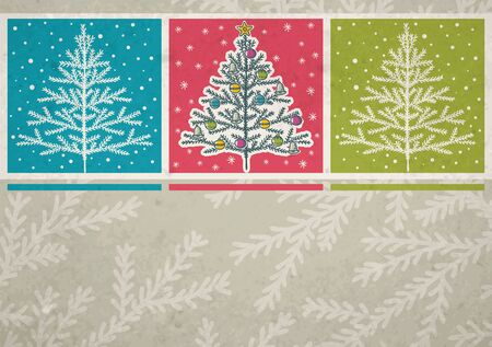 christmas trees  on color background Stock Vector - 15327568