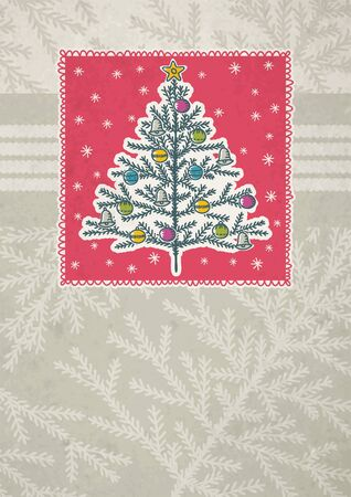 clipart wrinkles: christmas trees  on red background