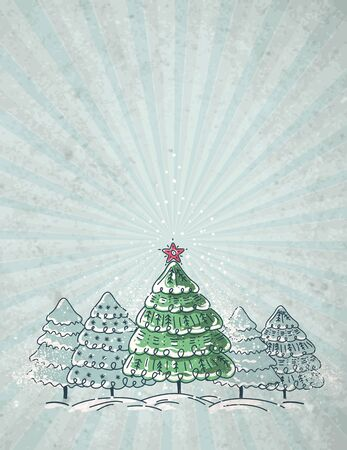 clipart wrinkles: christmas trees  on grey crumple background