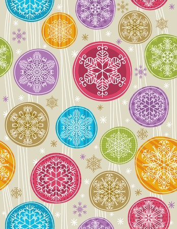 year curve: christmas background with snowflakes, vector illustration Illustration