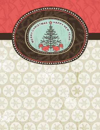 christmas background with snowflakes, squirrel and christmas tree,  illustration  Contains transparent objects Vector