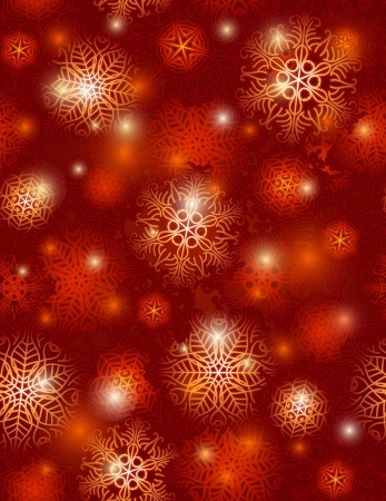 red background with snowflakes suitable for wrapping paper,  vector illustration Stock Illustration - 15448651