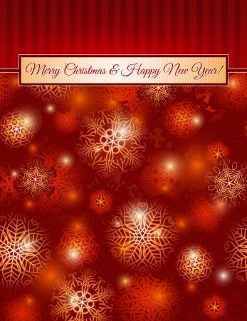 christmas red background with snowflakes,  vector illustrationEPS10  Contains transparent objects Vector