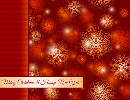 lustre: christmas red background with snowflakes,  vector illustrationEPS10  Contains transparent objects Illustration