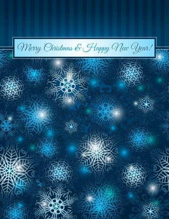 christmas blue background with snowflakes,  vector illustrationEPS10  Contains transparent objects Stock Vector - 15604470