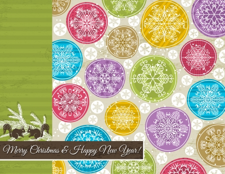 christmas background with hand draw snowflakes, illustration Stock Vector - 15712893