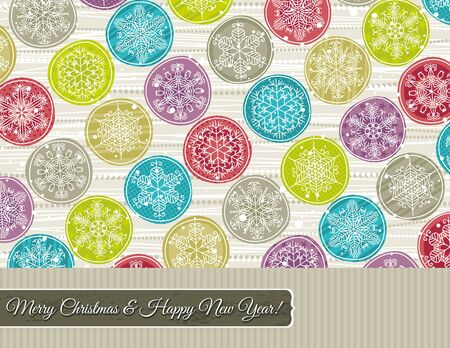 christmas background with hand draw snowflakes, vector illustration Stock Vector - 15769358