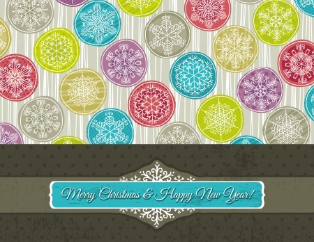 christmas background with hand draw snowflakes,  illustration Vector