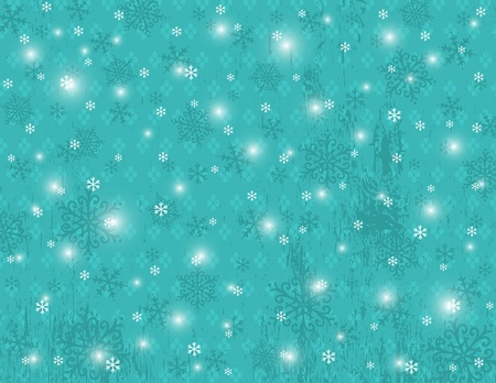 blue background with snowflakes,  illustration Vector