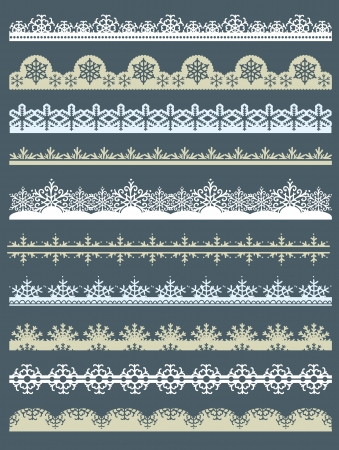 Set of Lace Paper  for christmas with snowflakes Stok Fotoğraf - 15874635