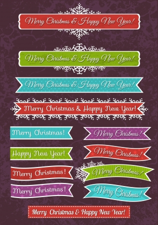 A set of Christmas design, vector illustration Vector