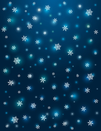 blue background with snowflakes,  vector illustration Stock Vector - 16402474