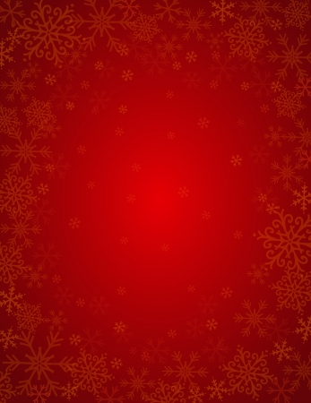 vanity: red background with  frame of snowflakes,  vector illustration Illustration