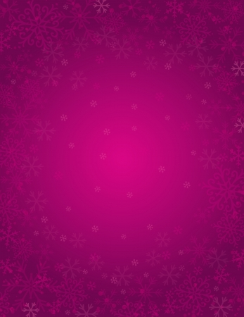 in vain: purple background with  frame of snowflakes,  vector illustration