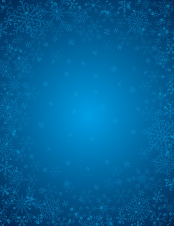 blue background with  frame of snowflakes,  vector illustration Stock Vector - 16402479