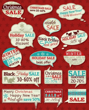 Set of special sale offer labels and banners Stok Fotoğraf - 16464527