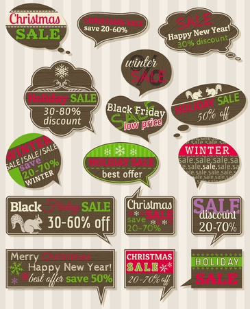 Set of special sale offer labels and banners Stock Vector - 16464514