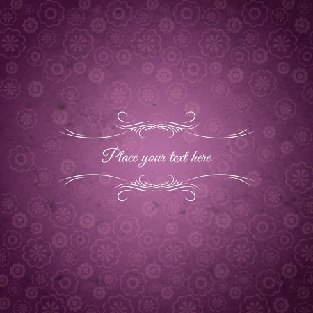 background of flowers with place for message, vector illustration
