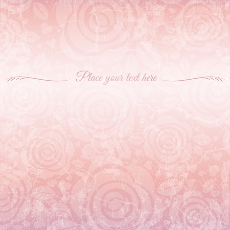 wedding background: background of roses with place for message, vector illustration