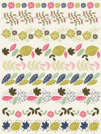 Set of Lace Paper with flower and leafs, vector