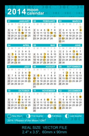 Pocket Calendar 2014 Vector