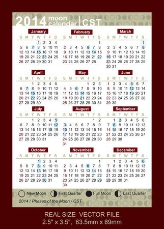 weekly planner: Pocket Calendar 2014 Illustration