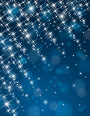 christmas blue background with brilliance stars,  illustration illustration