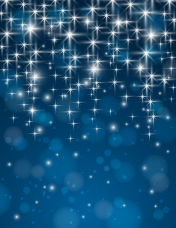 brilliance: christmas blue background with brilliance stars, illustration