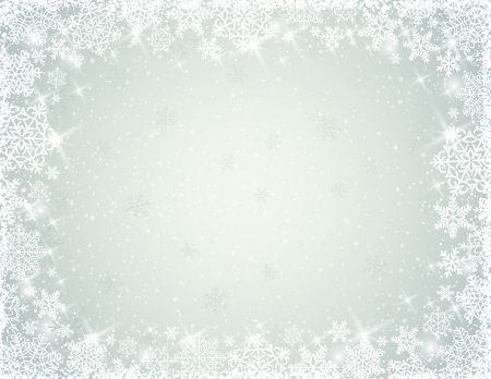 grey background with border of  snowflakes, illustration