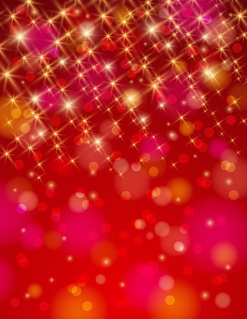 brilliance: christmas red background with brilliance stars Stock Photo
