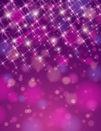 brilliance: christmas purple background with brilliance stars Stock Photo
