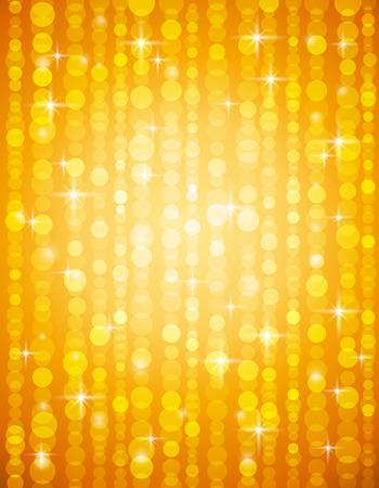 golden brightnes illustration suitable for christmas or disco backround, vector illustration Illustration