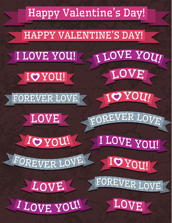 A set of valentine Vector