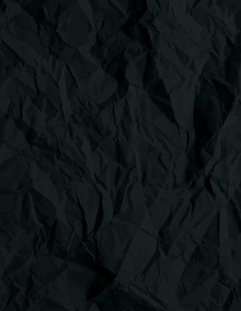 crumple: crumple black background, vector illustration
