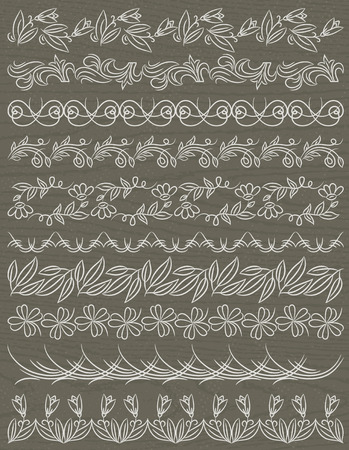 paper punch: Set of Lace Paper with flower, vector illustration