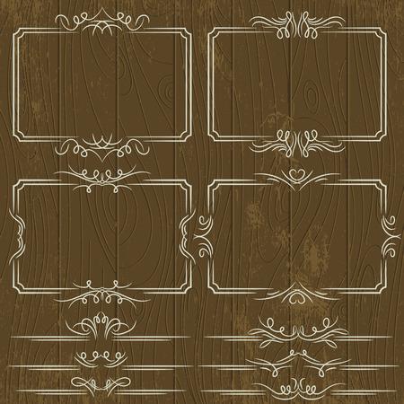 bordi decorativi: bordi decorativi floreali, regole ornamentali, divisori, vettore