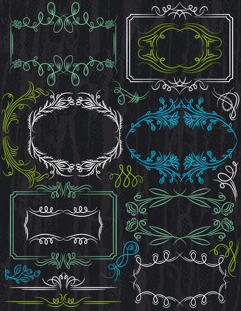 bordi decorativi: bordi decorativi floreali Vettoriali
