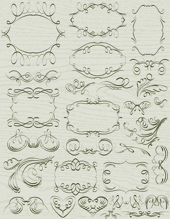 cenefas decorativas: bordes decorativos florales ornamentales, reglas, divisores, vector