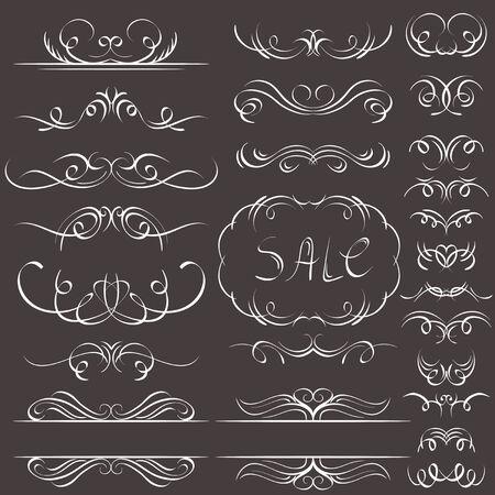 bordi decorativi: bordi decorativi calligrafia, regole ornamentali, divisori
