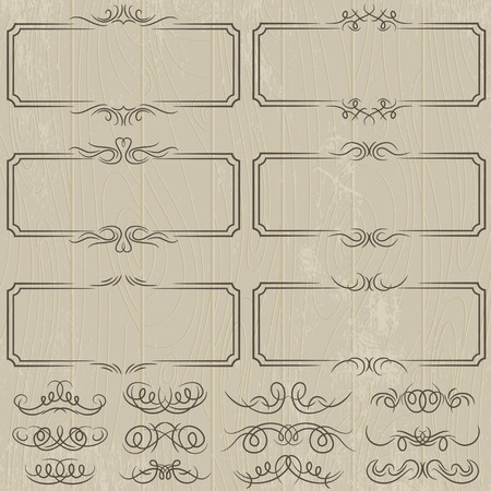 swashes: floral decorative borders, ornamental rules, dividers