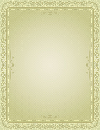 marriage certificate: certificate background with calligraphic lines, vector