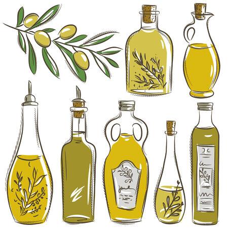 olive oil bottle: set of bottle for olive oil,
