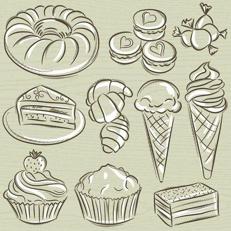 sweetmeats: conjunto de diferentes golosinas