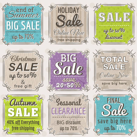 Set of special sale offer labels and banners , vector Vector