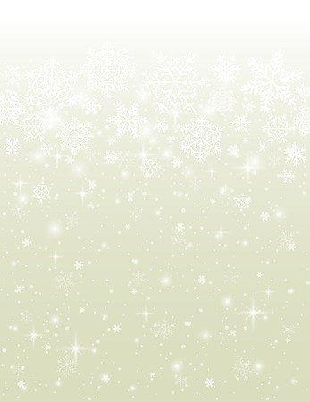 beige background with snowflakes, vector Vector